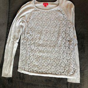 Elle Crochet Front sweater